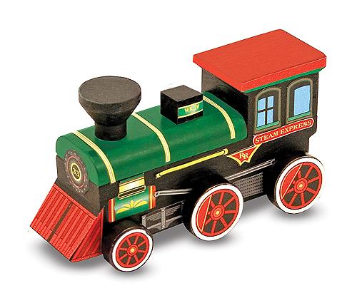 Melissa & Doug Bộ tô màu và thiết kế tàu hỏa hơi nước - bằng gỗ