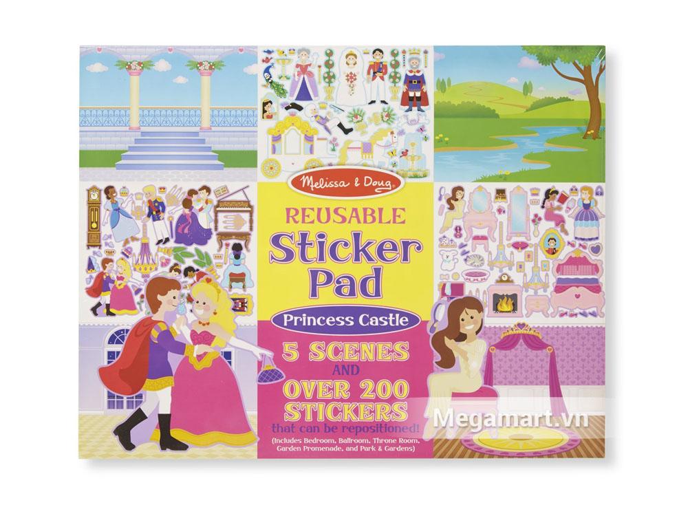 Melissa & Doug Sách sticker Cung điện hoàng gia