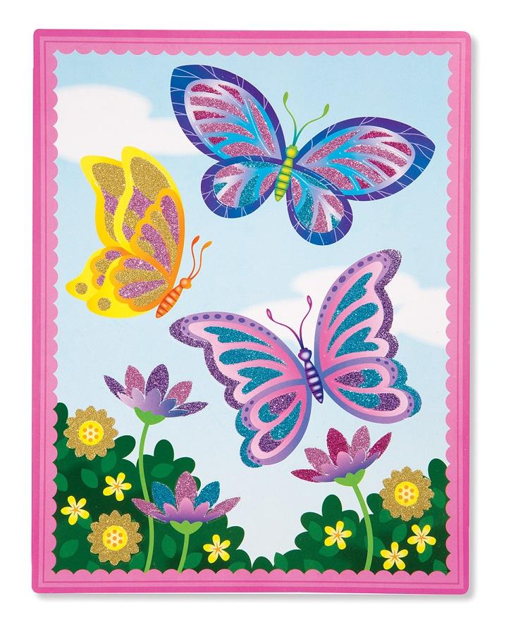 Melissa & Doug Thiết kế khung cảnh Hoa bướm mùa xuân lấp lánh