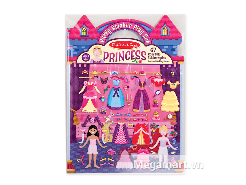 Melissa & Doug Tranh sticker Cung điện công chúa