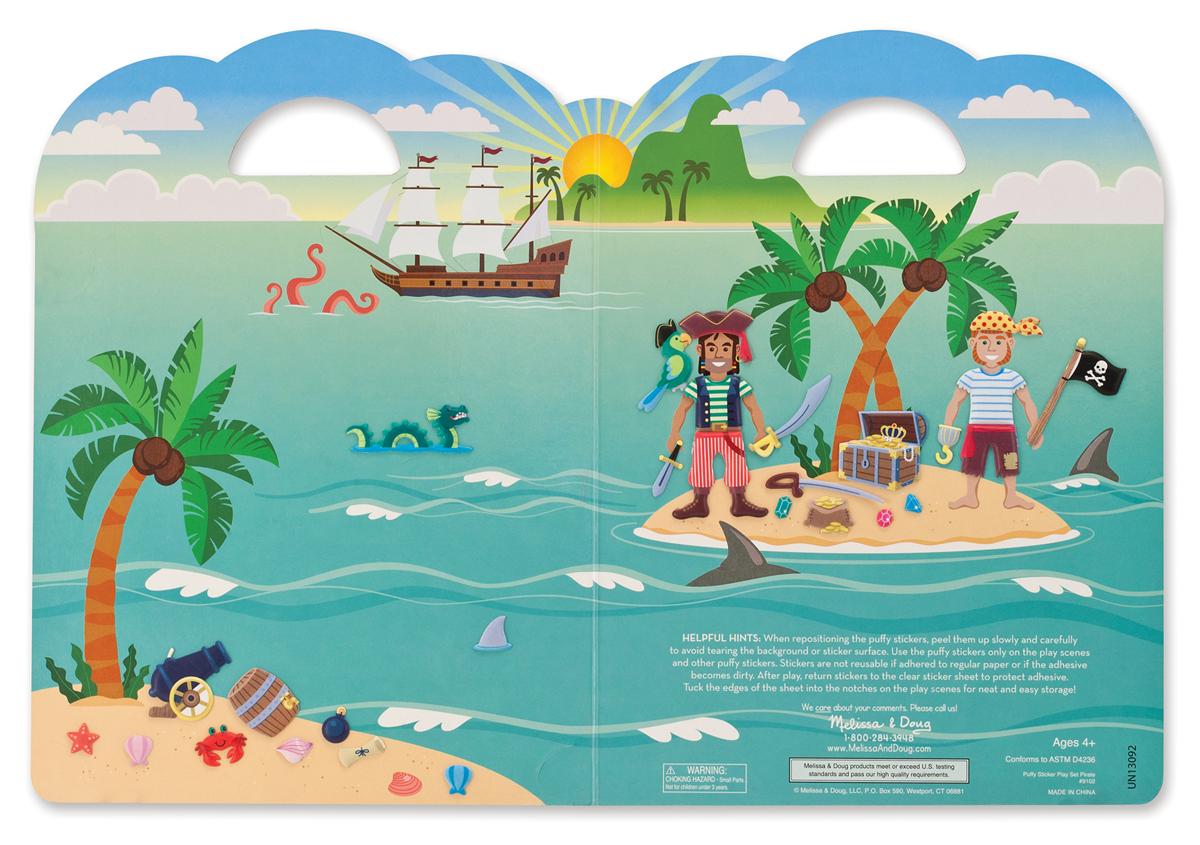 Melissa & Doug Tranh sticker Cướp biển vùng Caribe