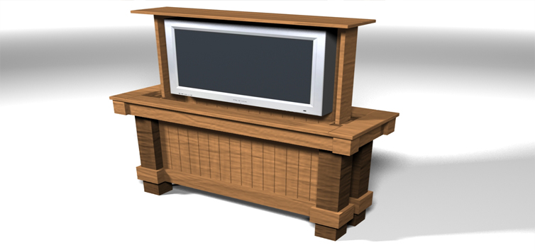 Television lift cabinet