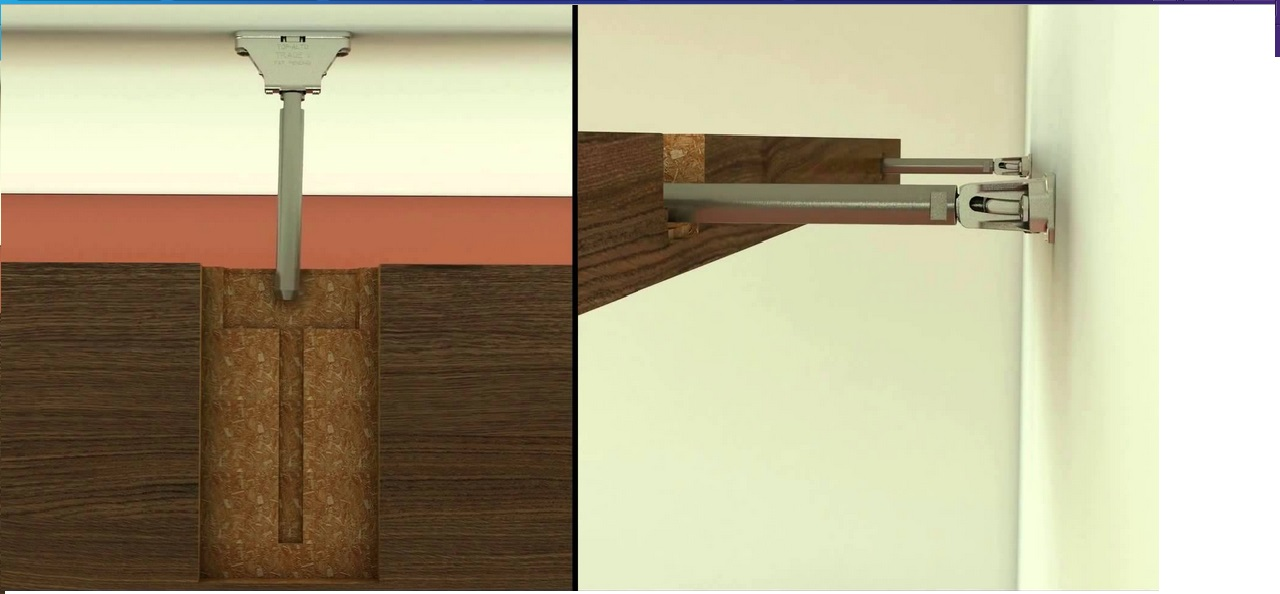 concealed shelf bracket