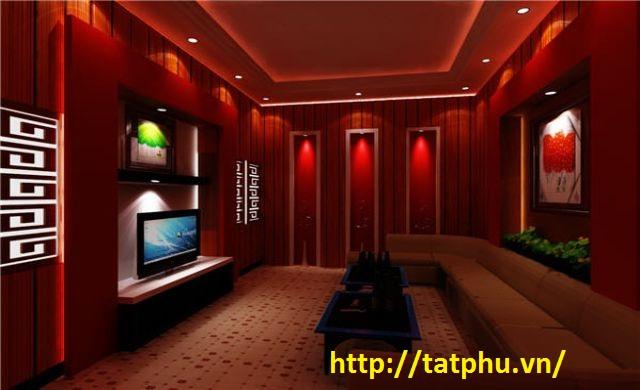 phòng karaoke được trang trí bằng tấm xi măng cemboard