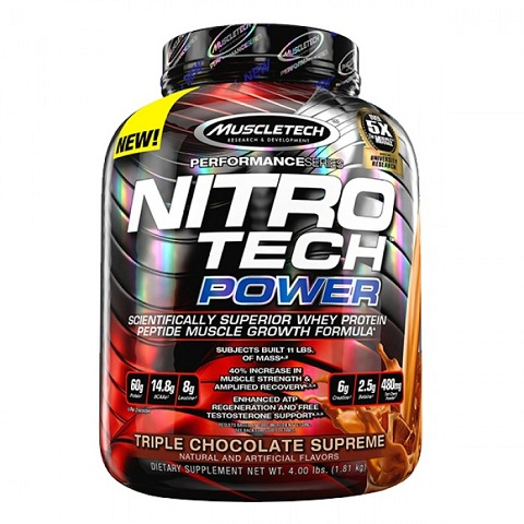 MuscleTech NITRO-TECH Power, 4 Lbs.