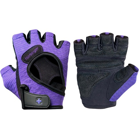 Harbinger Women's FlexFit AntiMicrobial Gloves, Purple