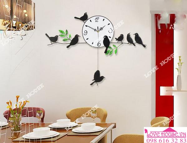 Mẫu đông hồ hình chim treo tường