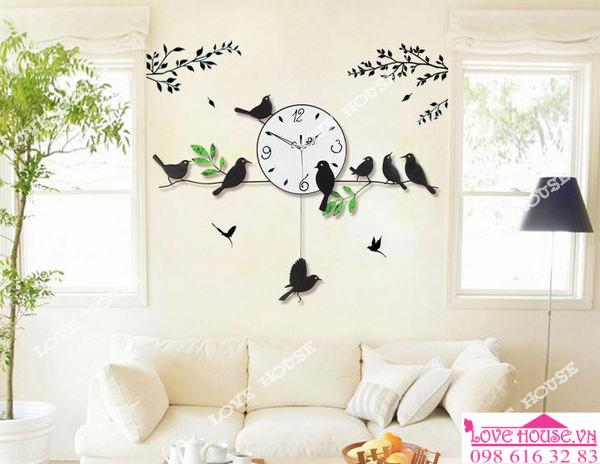 Đồng hồ treo tường con chim