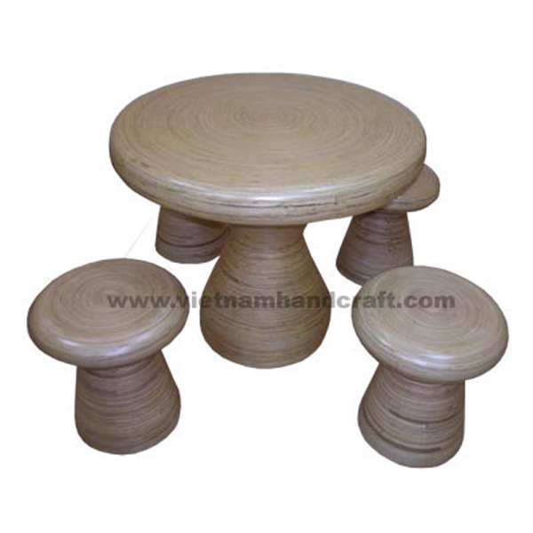 handmade coiled bamboo stools and stands and chairs and tables products
