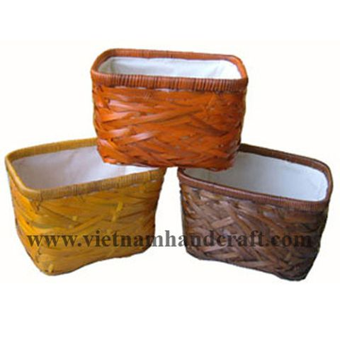 handmade lacquered bamboo bowls and baskets and laundry baskets and hampers products