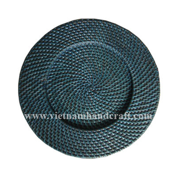 handmade rattan bamboo dishes and plates and charger plates and platters products