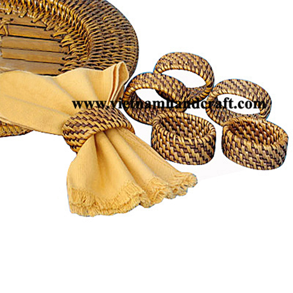 handmade rattan bamboo dishes and plates and charger plates and platters products made in vietnam