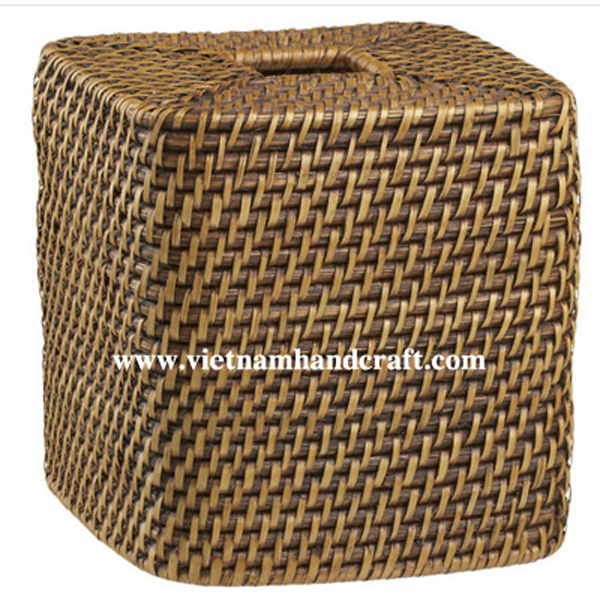 handmade rattan bamboo tissue paper boxes and tissue holders and napkin ring sets products