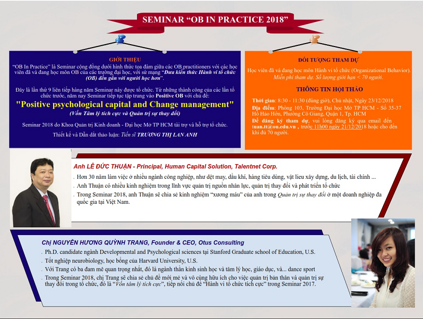 Seminar OB in practice 2018: Positive Psychological Capital and Change Management