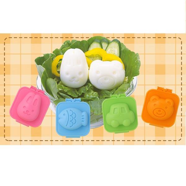 Set 4 khuôn tạo hình cơm trứng hình ngộ nghĩnh 1