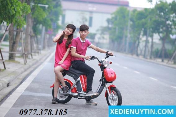 Xe đạp điện Nijia đỏ