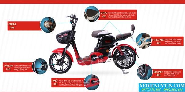 Giá xe đạp điện Honda M6 chính hãng