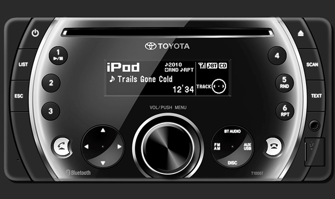 Toyota Vios 1.5G (TRD) được trang bị đầu CD