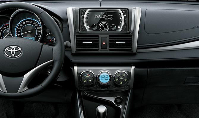 Bảng điều khiển trung tâm của Toyota Vios 2017 1.5E MT