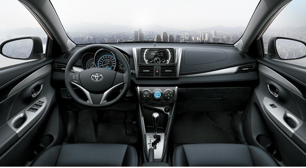 Không gian nội thất của Toyota Vios 2017 1.5E MT được thiết kế tinh tế