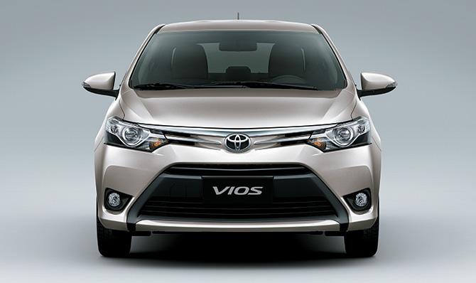 Ngoại thất Toyota Vios 2017 1.5E MT được thiết kế nổi bật