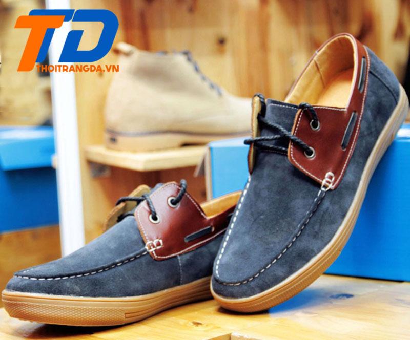 Giày lười da nam -4
