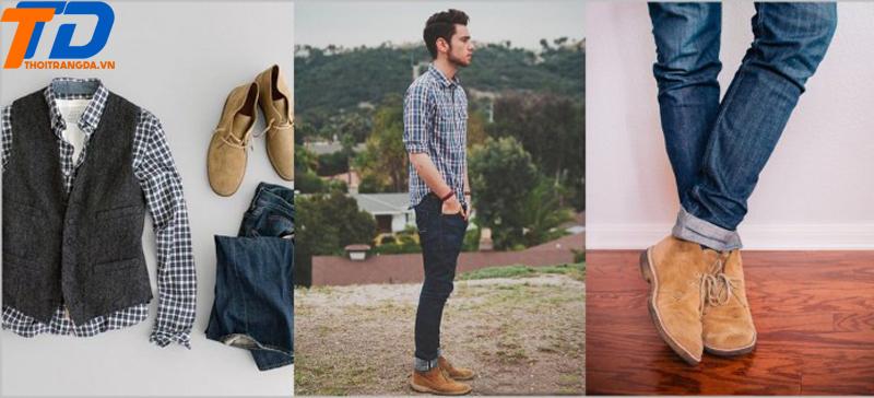 Giày lười da nam -5
