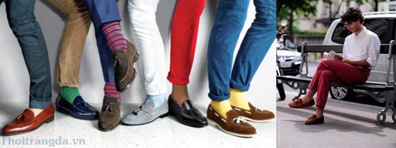 Cách phối đồ với giày lười nam