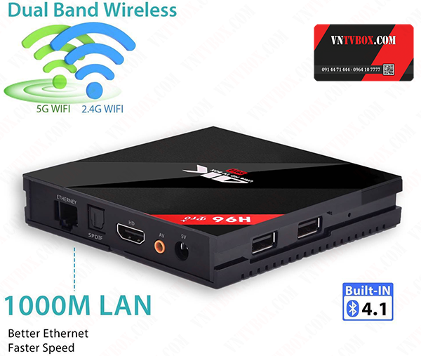 H96 PRO PLUS TV BOX - Ram 3GB - Rom 32GB - Amlogic S912 - Android 6.0