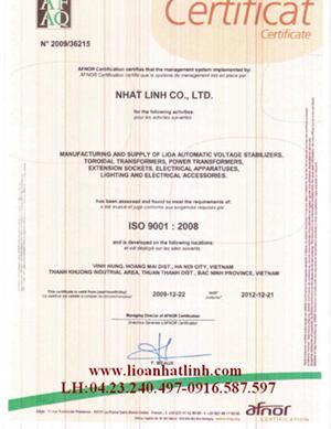 chung chi ISO-9001,lioavn.net