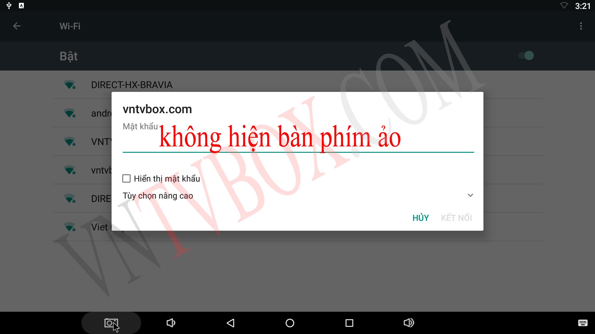 Hướng dẫn khắc phục lỗi không hiển thị bàn phím ảo trên Android Tv Box