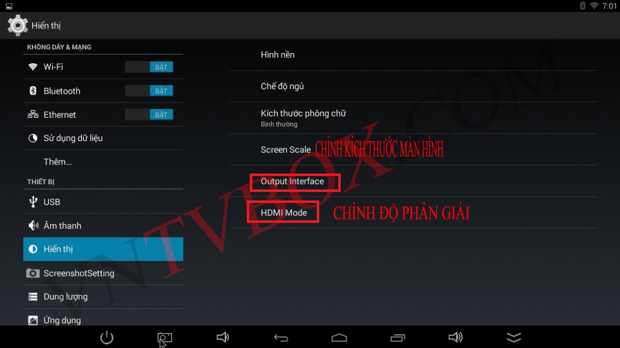 Hướng Dẫn Chỉnh Độ Phân Giải Và Kích Thước Màn Hình Khi Sử Dụng Android Tv Box