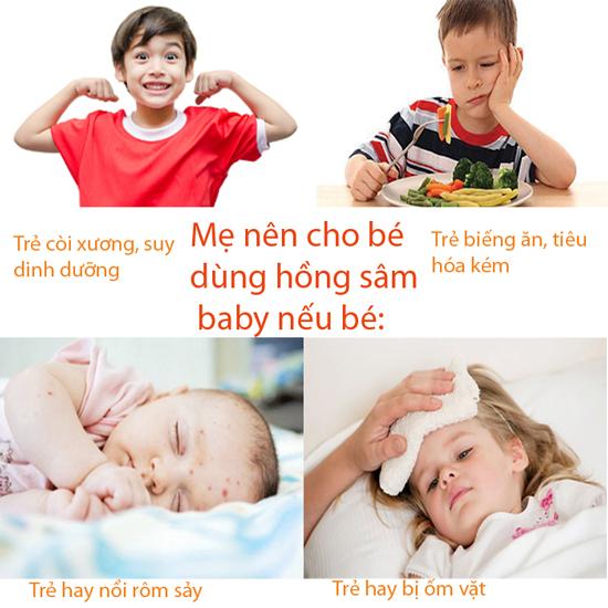 Những lưu ý khi sử dụng hồng sâm baby Hàn Quốc cho trẻ