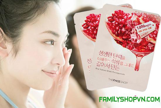 mặt nạ lựu the face shop Hàn Quốc