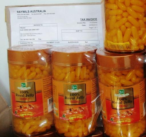 hóa đơn bill mua san pham sua ong chua
