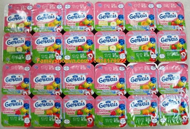 sữa chua trái cây gervais pháp