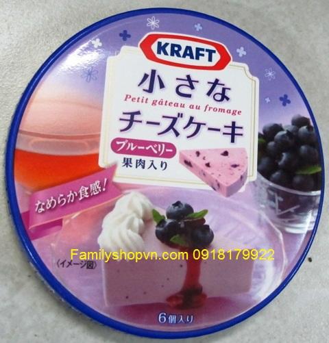 pho mát vị việt quất blueberry nhật