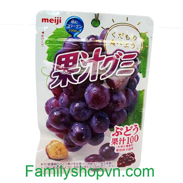 kẹo dẻo meiji collagen nho ép 4902777079752