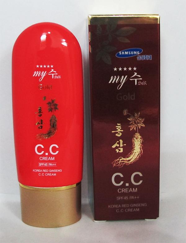 Kem nền CC Cream Hồng sâm đỏ My Gold 8809082396177