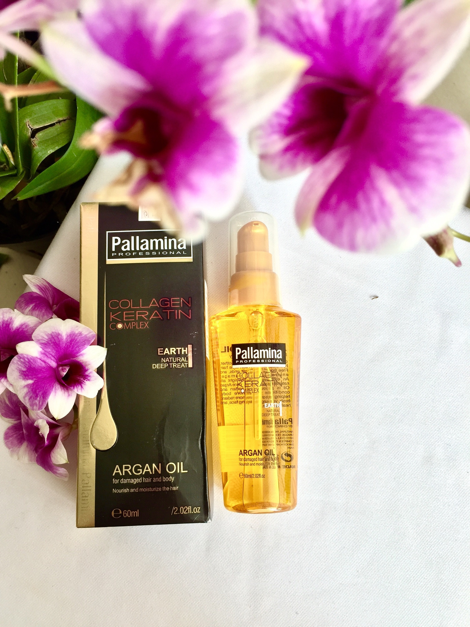 Kết quả hình ảnh cho Tinh dầu dưỡng tóc Pallamina Collagen Keratin Compex Argan Oil