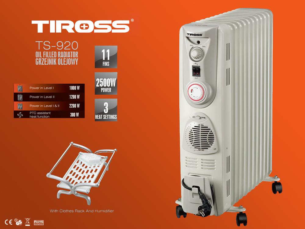 Lò sưởi dầu 11 thanh Tiross TS920