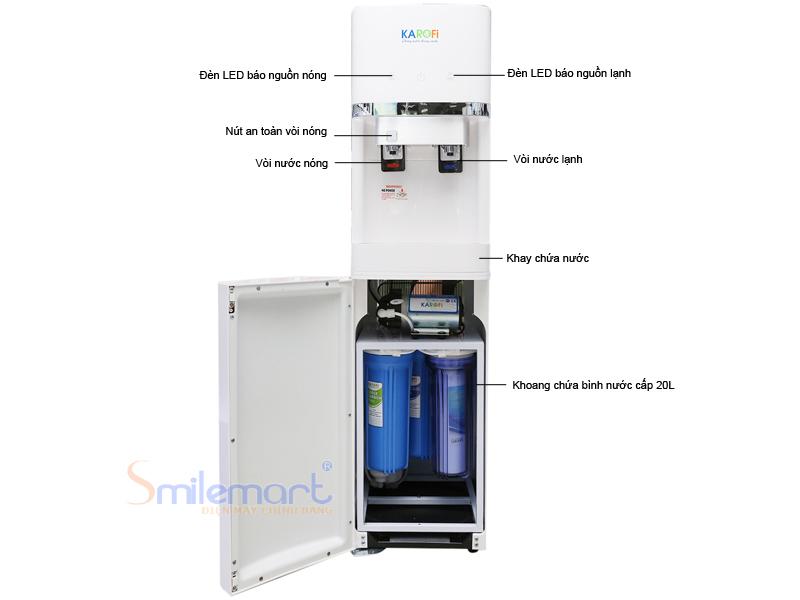 Cây nước lọc nước KAROFI HC300RO, tích hợp lõi lọc RO