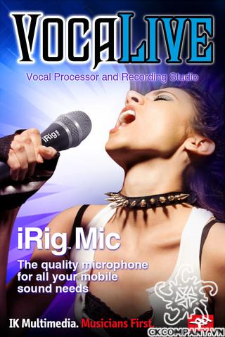 Irig Microphone cho Ipad, Iphone, Androids OS, iOs