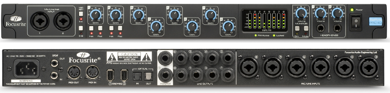 Sound card thu âm Focusrite Pro 40