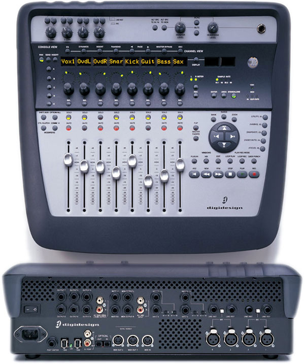 Sound card thu âm Digidesign 002 Console