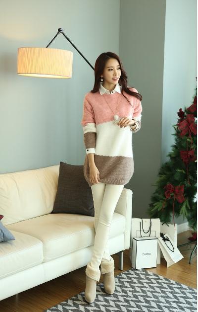 Bộ 3 áo len dáng dài - quần skinny - giày boot luôn hoàn hảo và thu hút
