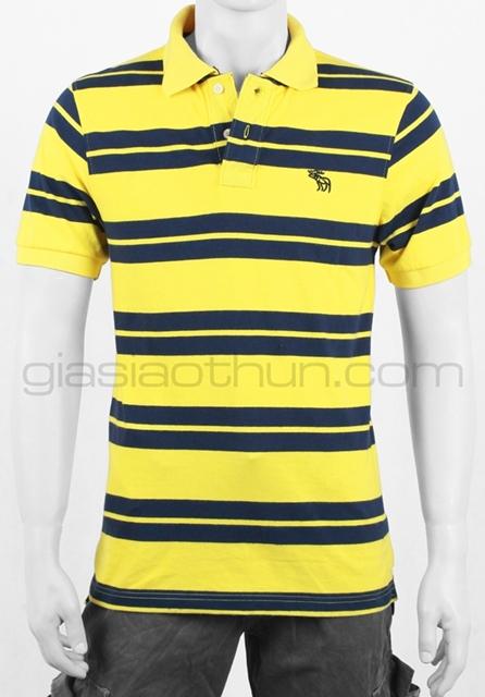 áo thun nam vàng sọc