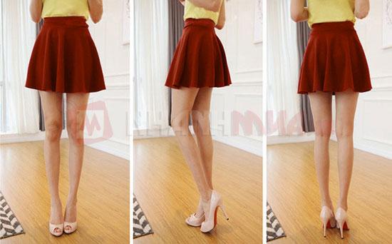 Chân váy xòe ngắn để các bạn gái Mix đồ dễ dàng