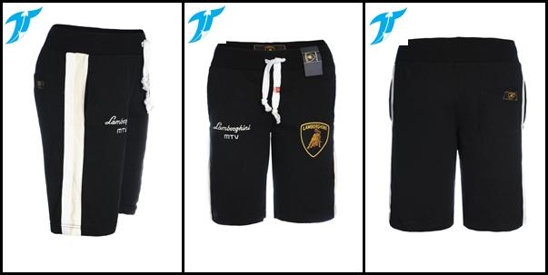 quần short nam lamboghini đen