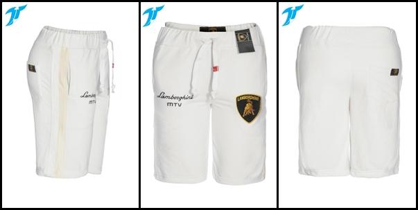 quần short nam lambo trắng